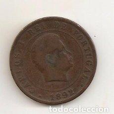 Monedas antiguas de Europa: ANTIGUA MONEDA CARLOS I REI DE PORTUGAL 1892 20 REIS 11,45GR-30MM. COBRE MBC++. Lote 93675780