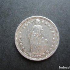 Monedas antiguas de Europa: MONEDA DE 1/2 FRANCO SUIZO DE PLATA DE 1940. Lote 93765155