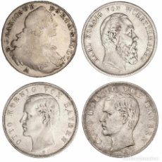 Monedas antiguas de Europa: ALEMANIA-LOTE 4 MONEDAS THALER-5 MARCOS MBC. Lote 93908455
