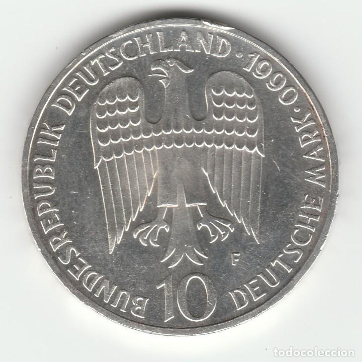 ALEMANIA- 10 MARCOS -1990-PLATA SC-/SC (Numismática - Extranjeras - Europa)