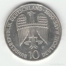 Monedas antiguas de Europa: ALEMANIA- 10 MARCOS -1990-PLATA SC-/SC. Lote 94232155