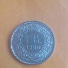 Monedas antiguas de Europa: 1 FRANCO SUIZO 1988 FRANC HELVETIA. Lote 94980479