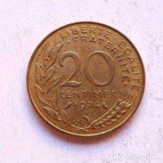 Monedas antiguas de Europa: FRANCE FRANCIA COIN 20 CENTIMES 1974. Lote 95042679