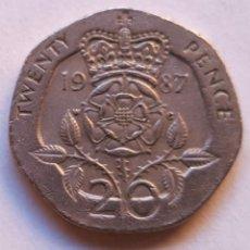 Monedas antiguas de Europa: GB BRITAIN COIN TWENTY 20 PENCE 1987. Lote 95043335