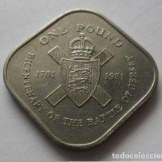 Monedas antiguas de Europa: 73 - RARA MONEDA DE JERSEY, 1 POUND - 1 LIBRA NICKEL DEL 1981 BATALLA DE JERSEY CONSERVACION MBC+. Lote 95287359