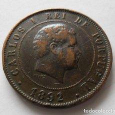 Monedas antiguas de Europa: 55 - MONEDA DE PORTUGAL DE 20 REIS DE COBRE. AÑO 1892. CONSERVACION MBC PIEZA DOBLADA. Lote 95330859