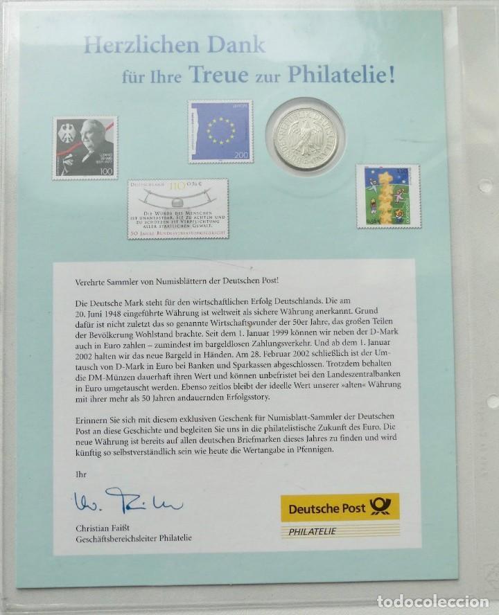 Monedas antiguas de Europa: BONITA PIEZA DE CARTA NUMISMATICA CON UN MARCO ALEMAN Y UN SELLO DE 110 PFENNIGE - Foto 2 - 95449731
