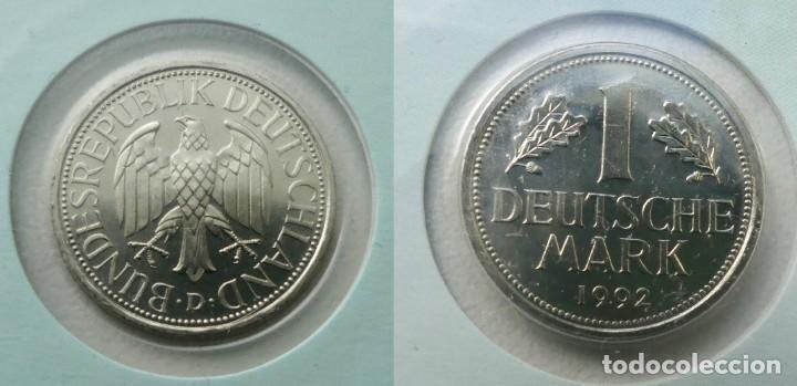 Monedas antiguas de Europa: BONITA PIEZA DE CARTA NUMISMATICA CON UN MARCO ALEMAN Y UN SELLO DE 110 PFENNIGE - Foto 3 - 95449731