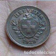 Monedas antiguas de Europa: 158 - MONEDA DE SUIZA-SWITZERLAND 1 RAPPEN DE COBRE AÑO 1929 B. CONSERVACION MBC+. Lote 95451211