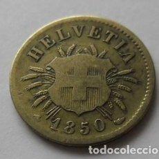 Monedas antiguas de Europa: 104 - MONEDA DE SUIZA-SWITZERLAND 5 RAPPEN DE NICKEL AÑO 1850. CONSERVACION MBC. Lote 95456727