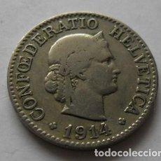 Monedas antiguas de Europa: 287 - MONEDA DE SUIZA-SWITZERLAND 10 RAPPEN DE NICKEL AÑO 1914 B. CONSERVACION MBC. Lote 95457147