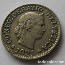 Monedas antiguas de Europa: 117 - MONEDA DE SUIZA-SWITZERLAND 10 RAPPEN DE NICKEL AÑO 1921 B. CONSERVACION MBC+. Lote 95457519