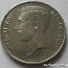 Monedas antiguas de Europa: 325 - RARA MONEDA DE BELGICA-DES BELGES 1 FRANCO DE PLATA AÑO 1911. CONSERVACION MBC+. Lote 95462387