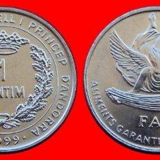 Monedas antiguas de Europa: 1 CENTIMO 1999 SIN CIRCULAR ANDORRA 0033SC COMPRAS SUPERIORES 40 EUROS ENVIO GRATIS. Lote 98727936