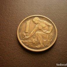 Monedas antiguas de Europa: CHECOSLOVAQUIA 1 CORONA 1965. Lote 95822267