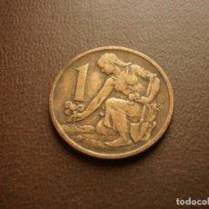 Monedas antiguas de Europa: CHECOSLOVAQUIA 1 CORONA 1967. Lote 95822275