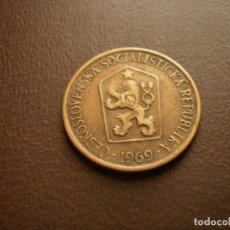 Monedas antiguas de Europa: CHECOSLOVAQUIA 1 CORONA 1969. Lote 95822315