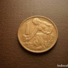 Monedas antiguas de Europa: CHECOSLOVAQUIA 1 CORONA 1990. Lote 95822435