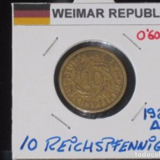 Monedas antiguas de Europa: ALEMANIA (WEIMAR REPUBLIC): 10 REICHSPFENNIG 1925A - REF.-811. Lote 95823227