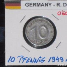 Monedas antiguas de Europa: ALEMANIA (R. DEMOCRATICA): 10 PFENNIG 1949A - REF.-812. Lote 95823271