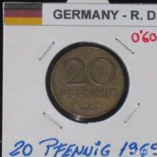Monedas antiguas de Europa: ALEMANIA (R. DEMOCRATICA): 20 PFENNIG 1969 - REF.-813. Lote 95823311