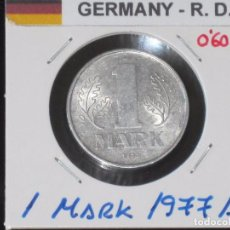 Monedas antiguas de Europa: ALEMANIA (R. DEMOCRATICA): 1 MARK 1977A - REF.-814. Lote 95823359