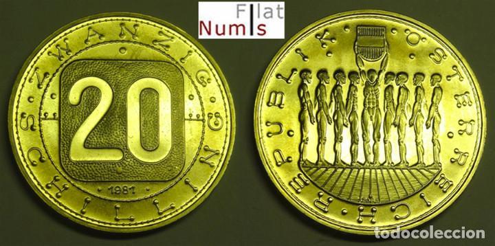 AUSTRIA - 20 CHELINES - 1981 - PROOF (Numismática - Extranjeras - Europa)
