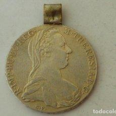 Monedas antiguas de Europa: MONEDA DE PLATA DE 1 THALER DE MARIA TERESA DE AUSTRIA DE 1780 X,HECHA MEDALLA, PESA 28,9 GRS. Lote 96790627