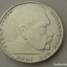 Monedas antiguas de Europa: MONEDA DE PLATA 2 MARCOS 1939 CECA D, ALEMANIA NAZI, MARISCAL PAUL VON HINDENBURG,S/C-, DIFICIL. Lote 97368659