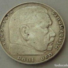 Monedas antiguas de Europa: MONEDA DE PLATA 2 MARCOS 1937 CECA D, ALEMANIA NAZI, DEL MARISCAL PAUL VON HINDENBURG. Lote 97419511