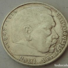 Monedas antiguas de Europa: MONEDA DE PLATA 5 MARCOS 1935 CECA F, ALEMANIA NAZI, MARISCAL PAUL VON HINDENBURG, ESCASA. Lote 97420771