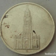 Monedas antiguas de Europa: MONEDA DE PLATA DE 5 MARCOS 1934 CECA D, IGLESIA GARNISONSKIRCHE, ALEMANIA NAZI, ESCASA . Lote 97421731
