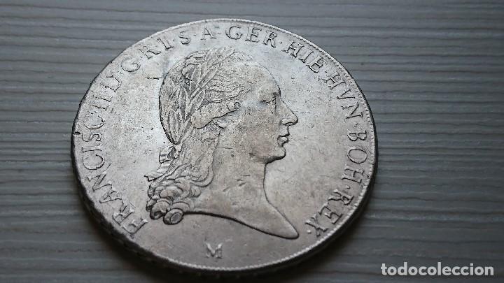 ESPECTACULAR KRONENTHALER AUSTRIA FRANCISCO II THALER 1794 M -MILAN PLATA (Numismática - Extranjeras - Europa)