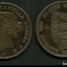 Monedas antiguas de Europa: JERSEY 1/12 SHILLING AÑO 1881 ( VICTORIA REINA DE GRAN BRETAÑA Y DE SUS DOMINIOS DE 1837 A 1901 ). Lote 97539891