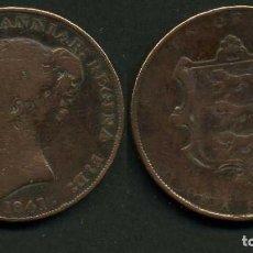 Monedas antiguas de Europa: JERSEY 1/13 SHILLING AÑO 1841 (VICTORIA REINA DE GRAN BRETAÑA Y DE SUS DOMINIOS DE 1837 A 1901). Lote 97817183