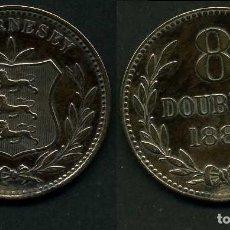 Monedas antiguas de Europa: GUERNSEY 8 DOBLES AÑO 1889 H ( ESCUDO DE ARMAS ). Lote 97886163