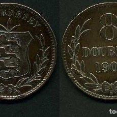 Monedas antiguas de Europa: GUERNSEY 8 DOBLES AÑO 1903 H ( ESCUDO DE ARMAS ). Lote 97886339