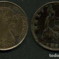Monedas antiguas de Europa: GRAN BRETAÑA 1/2 PENNY AÑO 1862 (VICTORIA REINA DE GRAN BRETAÑA Y DE SUS DOMINIOS DE 1837 A 1901)Nº2. Lote 97900595
