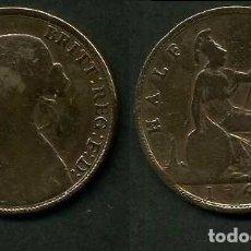 Monedas antiguas de Europa: GRAN BRETAÑA 1/2 PENNY AÑO 1861 (VICTORIA REINA DE GRAN BRETAÑA Y DE SUS DOMINIOS DE 1837 A 1901)Nº1. Lote 97902415