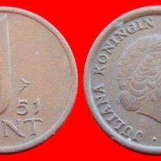 Monedas antiguas de Europa: 1 CENTIMO CENT CENTAVO 1951 HOLANDA 2980T COMPRAS SUPERIORES 40 EUROS ENVIO GRATIS. Lote 98008615