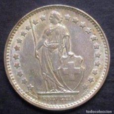 Monedas antiguas de Europa: SUIZA 1 FRANCO 1958 -PLATA-. Lote 98152575