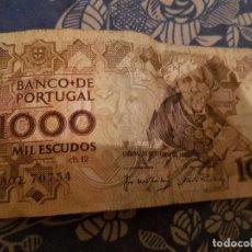 Monedas antiguas de Europa: BANCO DE PORTUGAL MIL ESCUDO,LISBOA 26 DE FEBRERO 1987. Lote 98174087