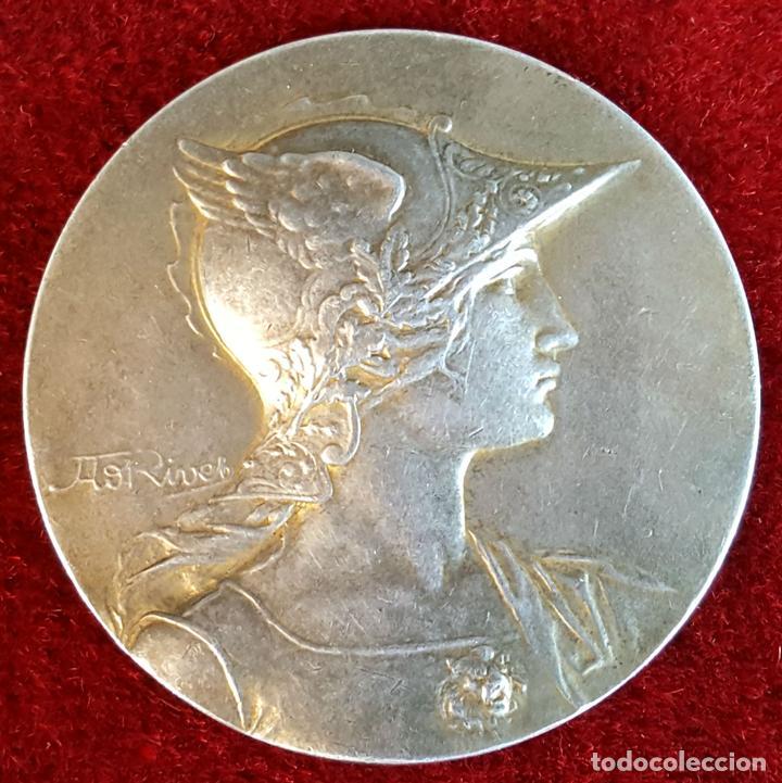 MEDALLA DE PLATA. SOCIETE D'HORTICULTURE D'ARMENTIERES. A. RIVES. FRANCIA 1927. (Numismática - Extranjeras - Europa)