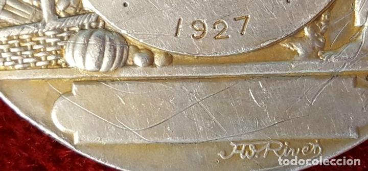 Monedas antiguas de Europa: MEDALLA DE PLATA. SOCIETE DHORTICULTURE DARMENTIERES. A. RIVES. FRANCIA 1927. - Foto 2 - 98186871