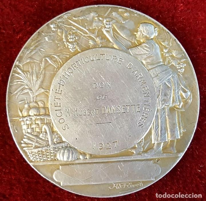 Monedas antiguas de Europa: MEDALLA DE PLATA. SOCIETE DHORTICULTURE DARMENTIERES. A. RIVES. FRANCIA 1927. - Foto 3 - 98186871