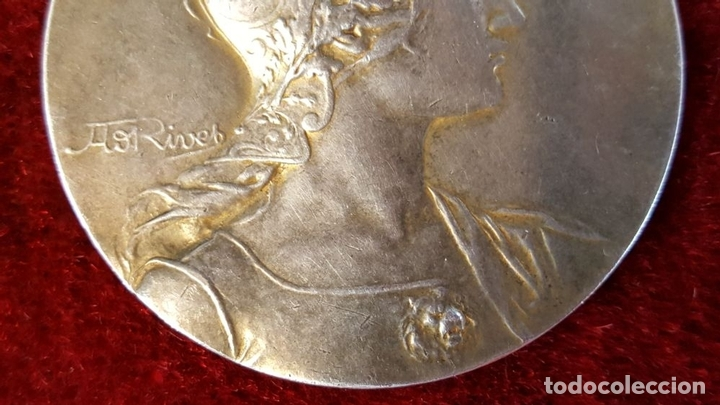 Monedas antiguas de Europa: MEDALLA DE PLATA. SOCIETE DHORTICULTURE DARMENTIERES. A. RIVES. FRANCIA 1927. - Foto 6 - 98186871