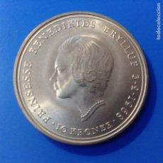 Monedas antiguas de Europa: DINAMARCA 10 CORONAS (KRONER) PLATA 1968 BODA DE LA PRINCESA BENEDICTA. Lote 144026438