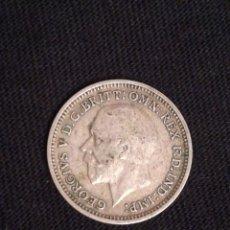 Monedas antiguas de Europa: MONEDA DE 3 PENIQUES DE PLATA GEORGIVS V 3D. Lote 98725651