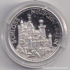 Monedas antiguas de Europa: MEDALLA DE PLATA CONMEMORATIVA DE ALEMANIA REY LUDOVICO II 1845-1886 - CASTILLO DEL REY LOCO. Lote 99241775