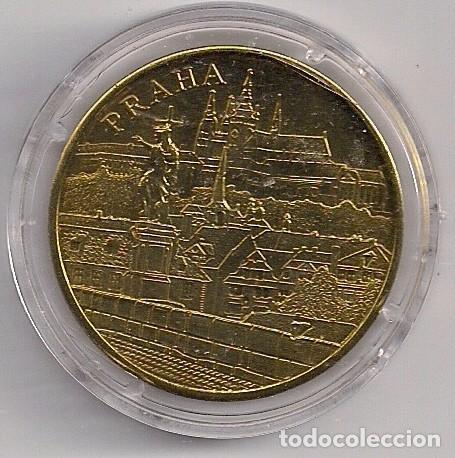 MEDALLA DE BRONCE REPÚBLICA CHECA - PRAGA - PUENTE DE CARLOS - TORRE DEL PUENTE DE LA CIUDAD VIEJA (Numismática - Extranjeras - Europa)